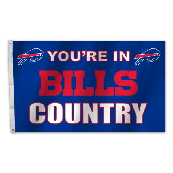 Buffalo Bills You're In Country Banner Flag 3' x 5' NFL Licensed
