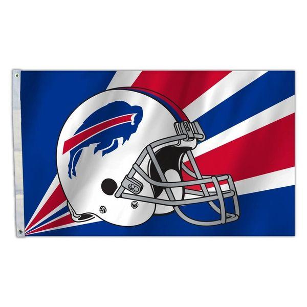 Buffalo Bills Team Helmet Banner Flag 3'x5' NFL Licensed