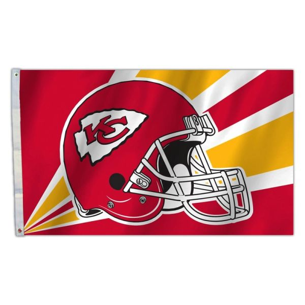 Kansas City Chiefs Team Helmet Banner Flag 3'x5' NFL Licensed