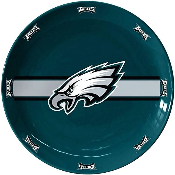 "Philadelphia Eagles Team Logo Ceramic Serving Plates 11"""