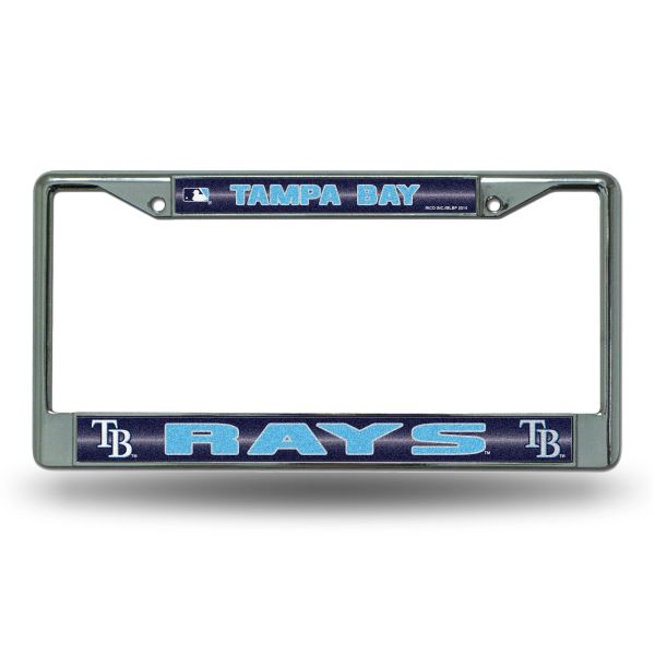 Tampa Bay Rays Chrome Bling License Plate Frame MLB Licensed