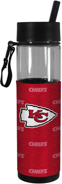 Kansas City Chiefs Slim Water Bottle 24oz. w/ Neoprene Wrap