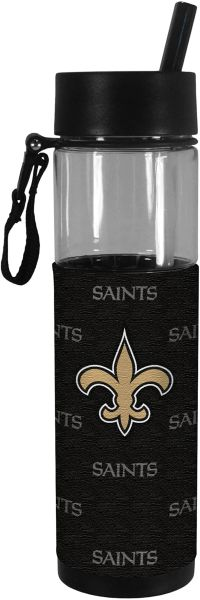 New Orleans Saints Slim Water Bottle 24oz. w/ Neoprene Wrap