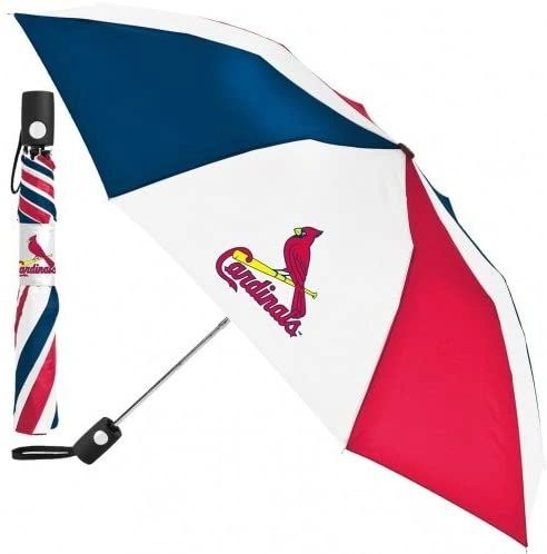 "St. Louis Cardinals Automatic Push Button Umbrella 42"" MLB Licensed"