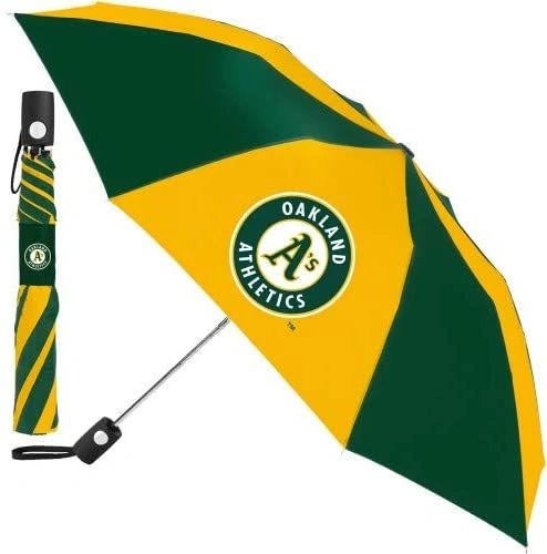 "Oakland Athletics Automatic Push Button Umbrella 42"" MLB Licensed"