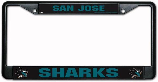San Jose Sharks Chrome Metal License Plate Frame NHL