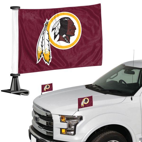 Washington Redskins Team Logo Ambassador Car Flag Set NFL
