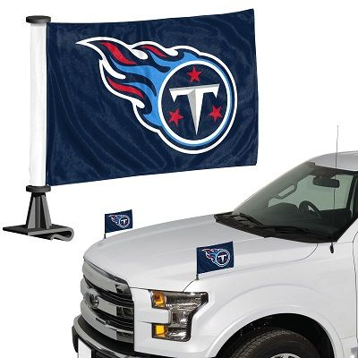 Tennessee Titans Team Logo Ambassador Car Flag Set NFL