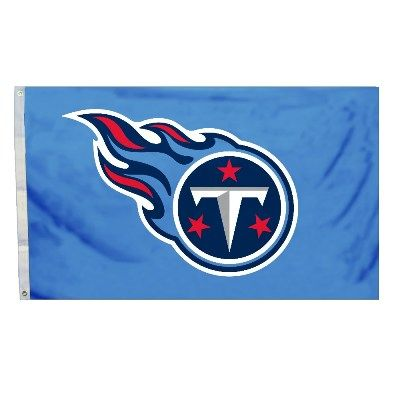 Tennessee Titans Team Logo Banner Flag 3' x 5' NFL Licensed