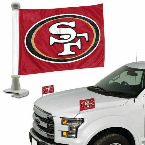 San Francisco 49ers Team Logo Ambassador Car Flag Set NFL