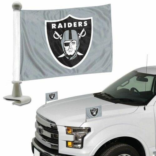 Oakland Raiders Team Logo Ambassador Car Flag Set NFL