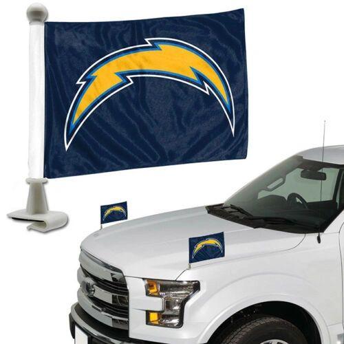 Los Angeles Chargers Team Logo Ambassador Car Flag Set NFL
