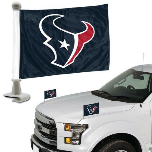 Houston Texans Team Logo Ambassador Car Flag Set NFL