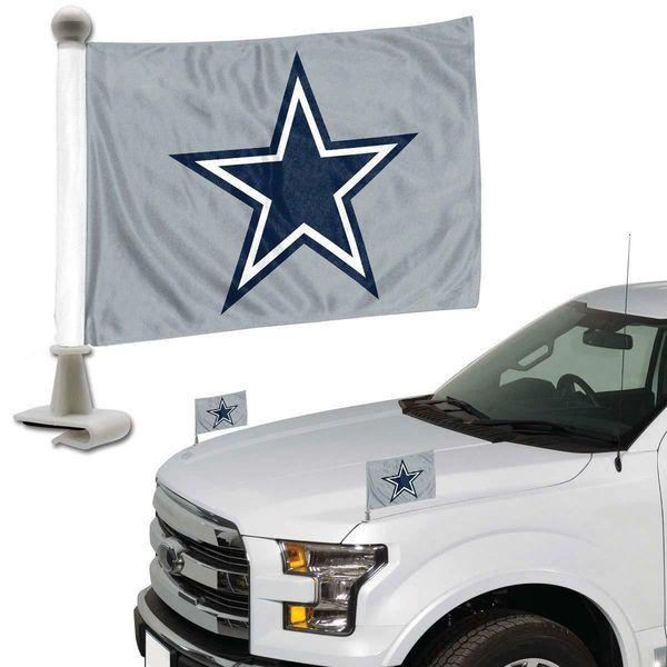 Dallas Cowboys Team Logo Ambassador Car Flag Set NFL