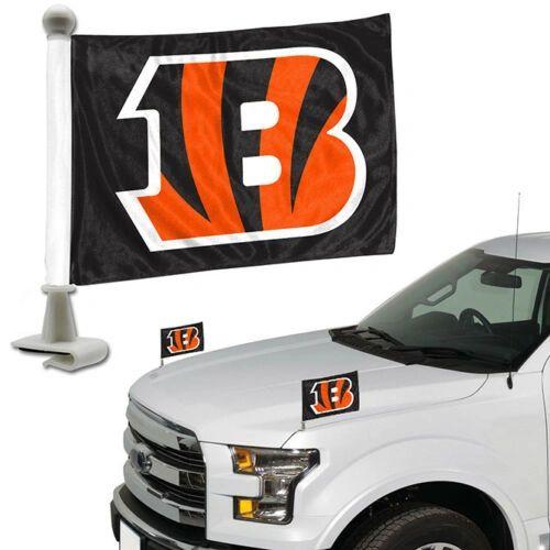 Cincinnati Bengals Team Logo Ambassador Car Flag Set NFL