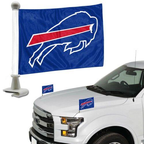 Buffalo Bills Team Logo Ambassador Car Flag Set NFL
