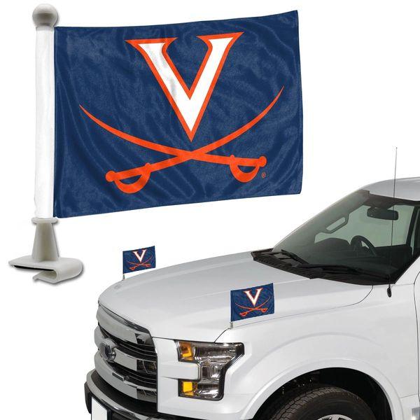 Virginia Cavaliers Team Logo Ambassador Car Flag Set NCAA