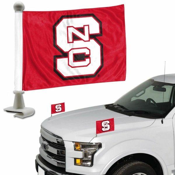NC State Wolfpack Team Logo Ambassador Car Flag Set NCAA