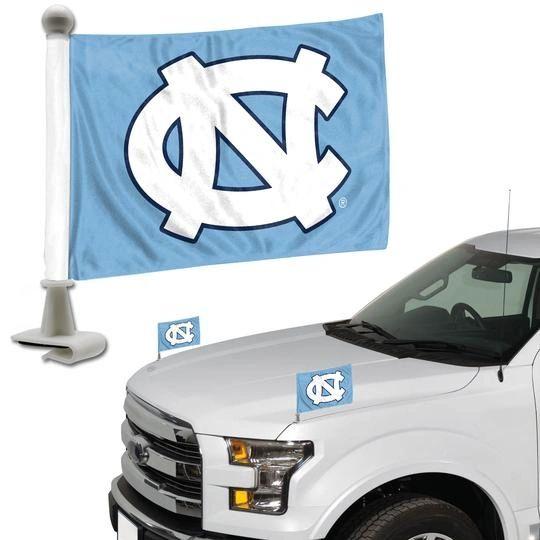 UNC Tar Heels Team Logo Ambassador Car Flag Set NCAA
