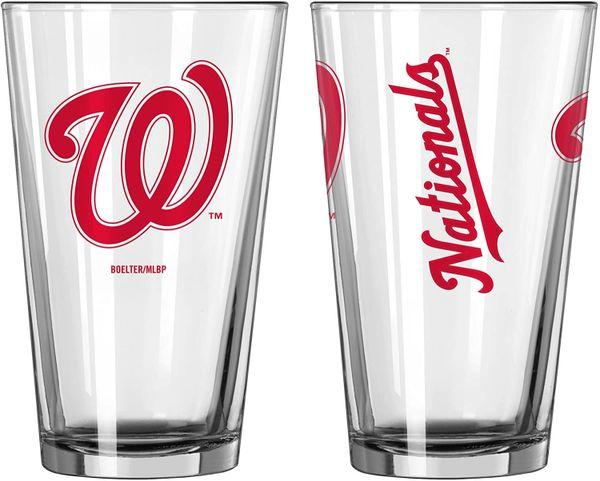 Washington Nationals Gameday 16oz Pint Glass 16oz. MLB