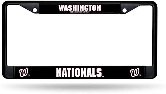 Washington Nationals Black Chrome License Plate Frame MLB