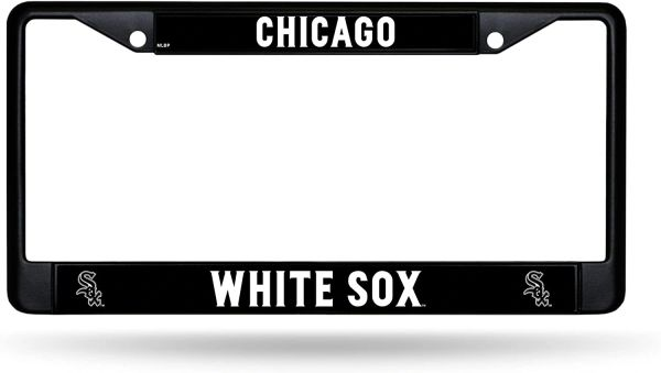 Chicago White Sox Black Chrome Metal License Plate Frame MLB