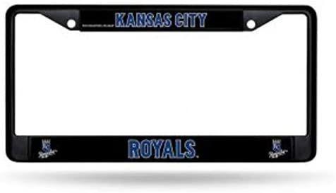 Kansas City Royals Black Chrome Metal License Plate Frame MLB