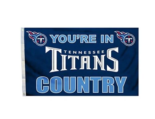 Tennessee Titans You're In Country Banner Flag 3' x 5' NFL Licensed