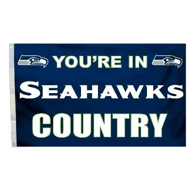 Seattle Seahawks You're In Country Banner Flag 3' x 5' NFL Licensed