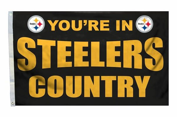 Pittsburgh Steelers You're In Country Banner Flag 3' x 5' NFL Licensed