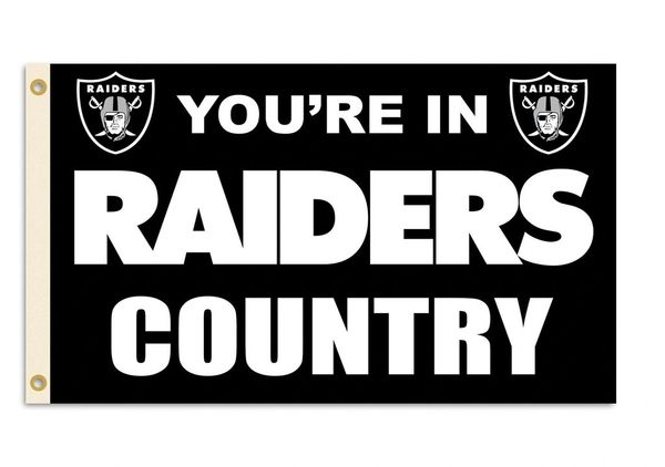 Oakland Raiders You're In Country Banner Flag 3' x 5' NFL Licensed