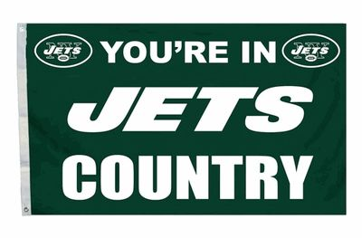 New York Jets You're In Country Banner Flag 3' x 5' NFL Licensed