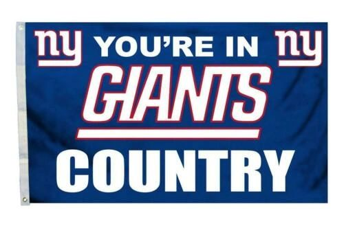 New York Giants You're In Country Banner Flag 3' x 5' NFL Licensed