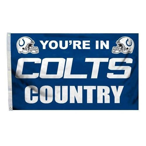 Indianapolis Colts You're In Country Banner Flag 3' x 5' NFL Licensed