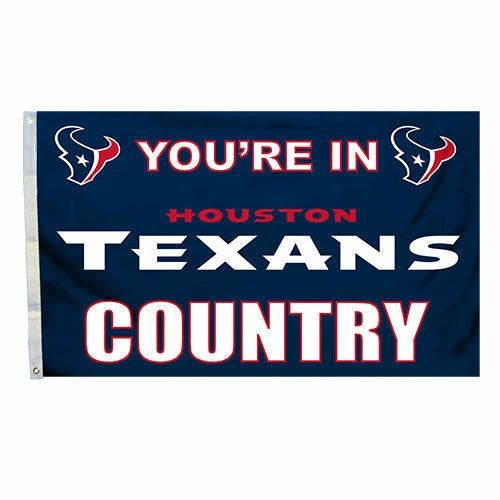 Houston Texans You're In Country Banner Flag 3' x 5' NFL Licensed