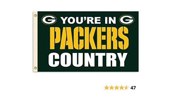 Green Bay Packers You're In Country Banner Flag 3' x 5' NFL Licensed