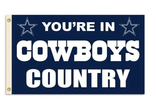 Dallas Cowboys You're In Country Banner Flag 3' x 5' NFL Licensed