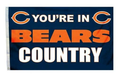 Chicago Bears You're In Country Banner Flag 3' x 5' NFL Licensed