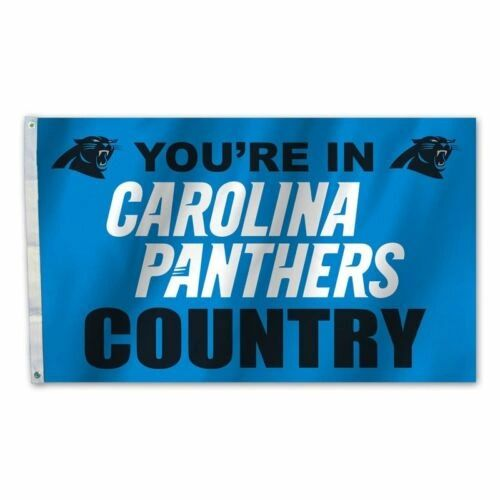 Carolina Panthers You're In Country Banner Flag 3' x 5' NFL Licensed