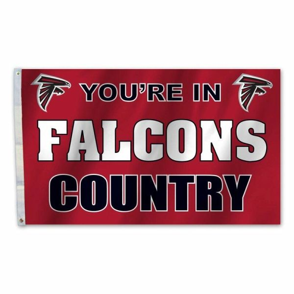 Atlanta Falcons You're In Country Banner Flag 3' x 5' NFL Licensed