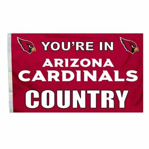 Arizona Cardinals You're In Country Banner Flag 3' x 5' NFL Licensed