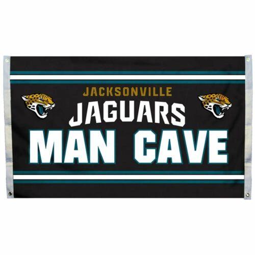 """Jacksonville Jaguars """"Man Cave"""" 3' x 5' Banner Flag NFL Licensed"""
