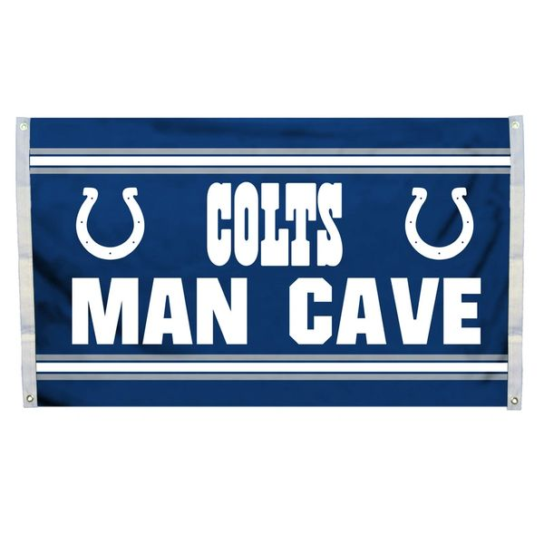 "Indianapolis Colts ""Man Cave"" 3' x 5' Banner Flag NFL Licensed"