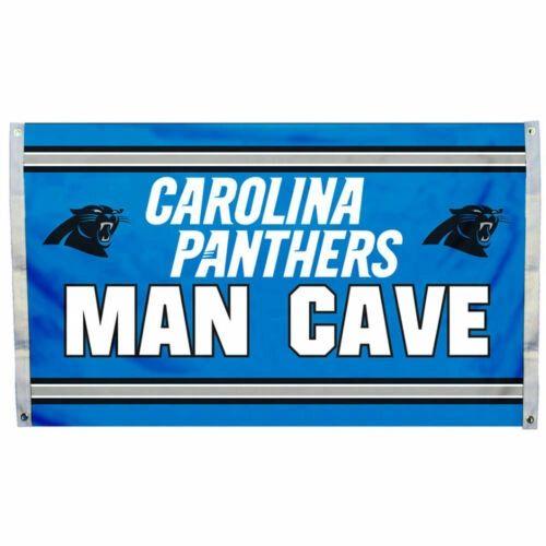 """Carolina Panthers """"Man Cave"""" 3' x 5' Banner Flag NFL Licensed"""