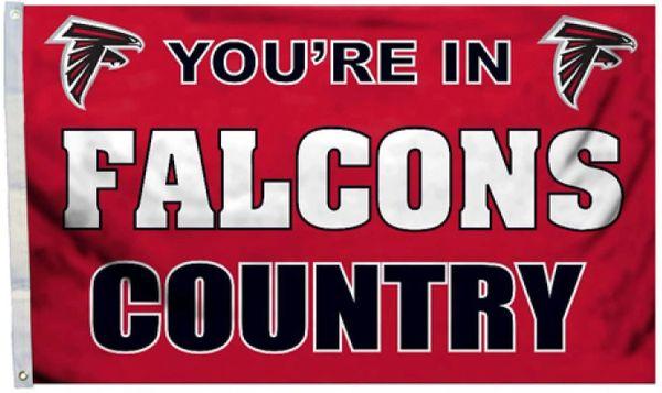 "Atlanta Falcons ""Man Cave"" 3' x 5' Banner Flag NFL Licensed"