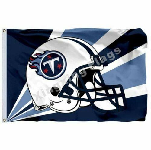 Tennessee Titans Team Helmet Banner Flag 3'x5' NFL Licensed