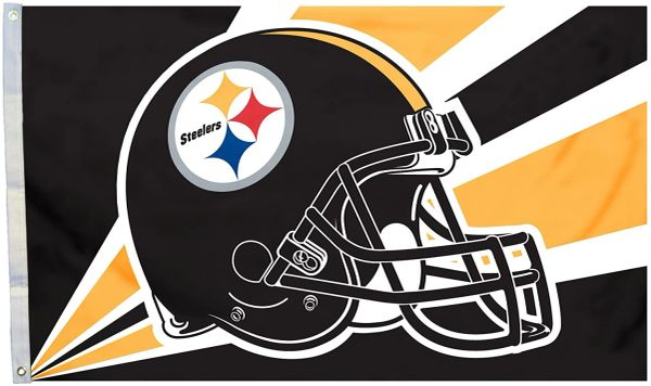 Pittsburgh Steelers Team Helmet Banner Flag 3'x5' NFL Licensed