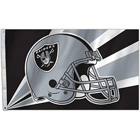 Oakland Raiders Team Helmet Banner Flag 3'x5' NFL Licensed