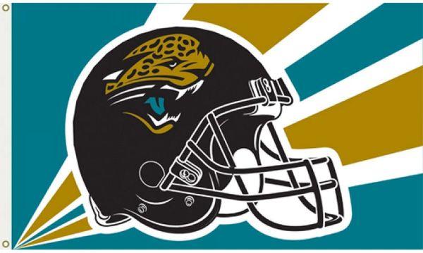 Jacksonville Jaguars Team Helmet Banner Flag 3'x5' NFL Licensed