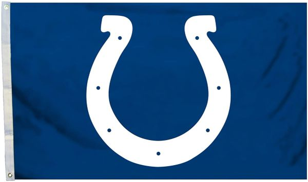 Indianapolis Colts Team Logo Banner Flag 3' x 5' NFL Licensed